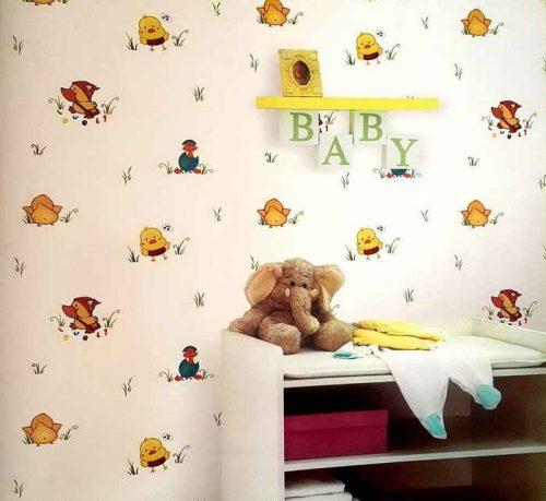 کاغذ دیواری بچگانه دخترانه